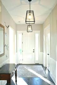 modern entry chandelier foyer light chandeliers lighting low ceiling white l74