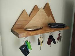 wooden key holder wall key holder