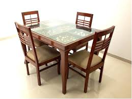 wooden top dining table lovely modern dining table design with glass top dining table design images