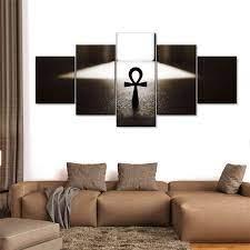 Gold/ gold and black pinkpearl11 (286) Egyptian Ankh Multi Panel Canvas Wall Art Elephantstock