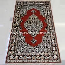 color handmade silk prayer rug small