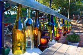backyard party lighting ideas. rainbow glass bottles backyard lighting httpbestpickrcom party ideas g