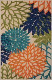 nourison aloha multicolor indoor outdoor area rug in alternate view