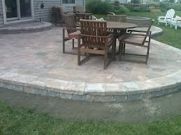 raised patio paver designs