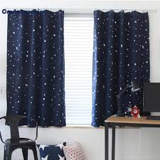 1pc full blackout shading stars bedroom balcony curtains hook grommet purdah my
