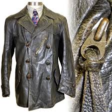 german double ted leather jacket