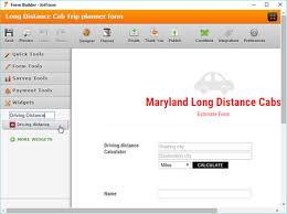 Driving Distance Chart Driving Distance Form Widgets Jotform