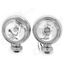 h3 55w 1100lm 3000k white headlamp fog spot light for suv car vehicle silver pair