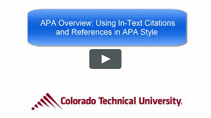 Using In Text Citations And References In Apa Style