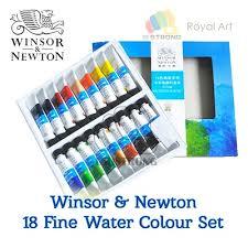 Winsor Newtonwinsor Newton Fine Water Colour Set 18 24 Colours Transparent Watercolour 10ml Tube