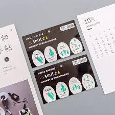 4pcs/lot Mohamm <b>Cute Cactus Magnetic Bookmark</b> Book Markers ...
