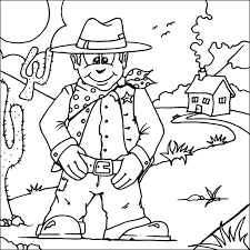 Free Cowboy Coloring Pages With Printable