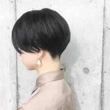 前髪なしのショートヘア16選パーマストレートの前髪なしの髪型は