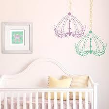 chandelier wall stencils for cute baby girl nursery decor royal design studio  on nursery wall art stencils with chandelier wall art motif stencil royal design studio stencils