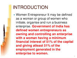 women entrepreneurs conclusion i 2 3 introduction  women entrepreneur