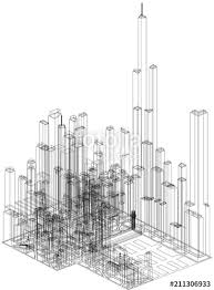 Architecture blueprints skyscraper Cell Phone Tower Skyscrapers Concept Architect Blueprint Isolated Fotoliacom Skyscrapers Concept Architect Blueprint Isolated