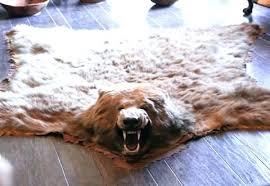 fake bear skin rug with head bear head rug fake faux bear skin rug with head