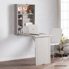 furniture fold out desk lovely harper blvd raeburne fold out convertible wall mount desk gray