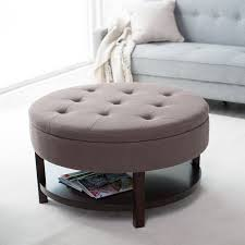 round coffee table with storage stools small tables beautiful glass top best of awesome ottoman round
