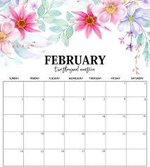 february printable calendar 2019 february calendar 2019 printable cute free printable calendar