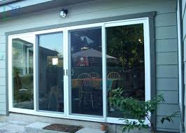 large sliding glass doors commercial white aluminium patio big cost
