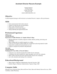 Communication Skills On Resume Assistant Director Resume Example