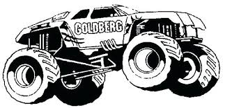 Printable Monster Truck Coloring Pages Monster Jam Truck Coloring