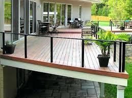 deck railing glass deck railing systems photo 2 deck railing brackets