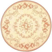 round orange area rugs