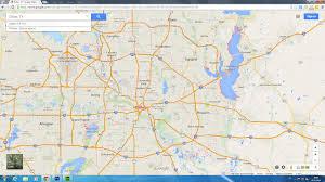 dallas texas map