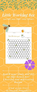 Debt Goal Chart Debt Free Chart Little Working Bee Planner Journal