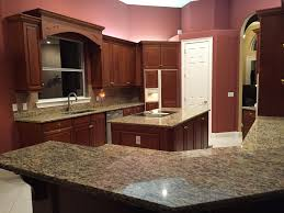 Of Kitchens With Granite Countertops Santa Cecilia Granite Countertops Installation Kitchen
