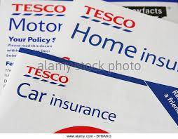 tesco car home insurance s literature stock image