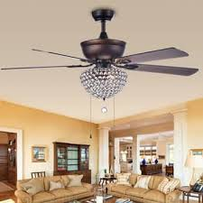 ceiling fans with lights for living room. Swarna Antique Bronze 3-light Metal/ Crystal 5-blade 52-inch Ceiling Fans With Lights For Living Room N