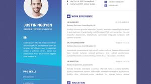 Impactful Resume Templates Free Professional Resume Template Contemporary Blue YouTube 18