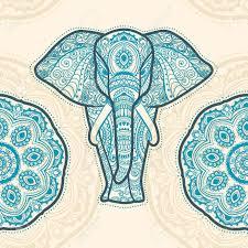 Elephant Pattern Adorable Greeting Beautiful Pattern With Elephant Pattern Of Animal Made