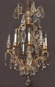 antique french baccarat crystal and bronze d ore chandelier chc108 for