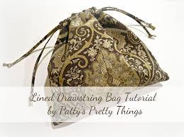 diy lined drawstring bag tutorial