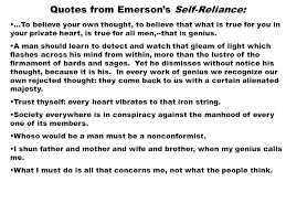 self reliance essay self reliance
