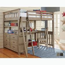 bunk bed with office underneath. Shop Highlands Collection Driftwood Full Size Loft Bed Dresser And Rh  Overstock Com Bunk Beds With Desk Area Underneath For Girls Office