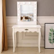 White Vanity Table With Lighted Mirror Amazon Com Ssline Vanity Table With Lighted Mirror White