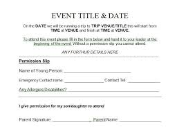 School Field Trip Permission Form Template 35 Permission Slip Templates Field Trip Forms