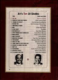 Singles Chart Jet Top 20 Concert Flyers Record Charts