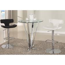 f exclusive 3 piece bar table sets for inspiring small home cafe with round glass top pub table using stainless steel bracket base prong and unique chic chic small white home