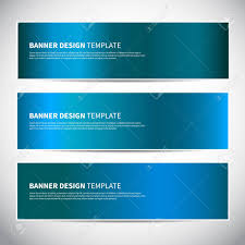 Banners Blue Shiny Glossy Gradient Vector Banner Templates Or