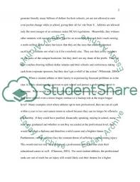 should college athletes get paid research paper  should college athletes get paid essay example