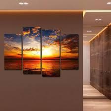 multi panel canvas prints groupon sunset at beach wall art