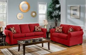 wall units ideas lounge decor red