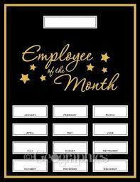 Employee Of The Month Photo Frame Employee Of The Month Award Kit 13 Pcs Printable Certificates
