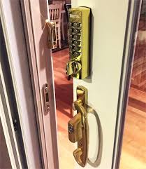 keyless sliding door lock on a slider keyless sliding glass door lock